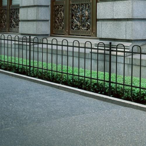 Ornamental Security Palisade Fence Steel Black Hoop Top 150 cm