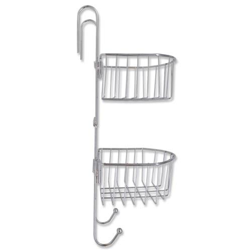 Metall-Dusche Regal 2-Tier mit zwei Kleiderbügel