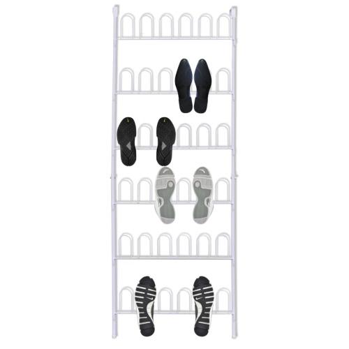 Белая сталь обуви стойки для 18 пар обуви