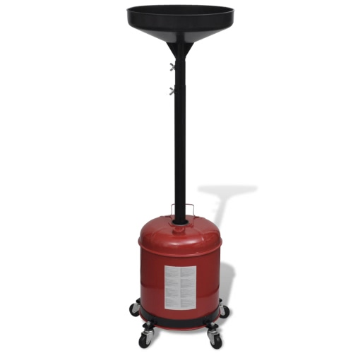 Adjustable 19 L Waste Oil Dolly with Casters