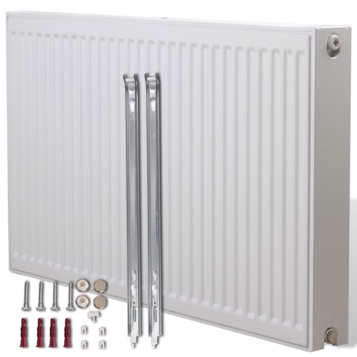 White Compact Convector Radiator Bottom Connectors 80 x 10 x 60 cm