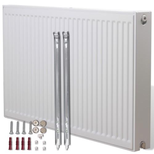 Белый Компактный конвектор радиатора Нижние разъемы 80 х 10 х 60 см