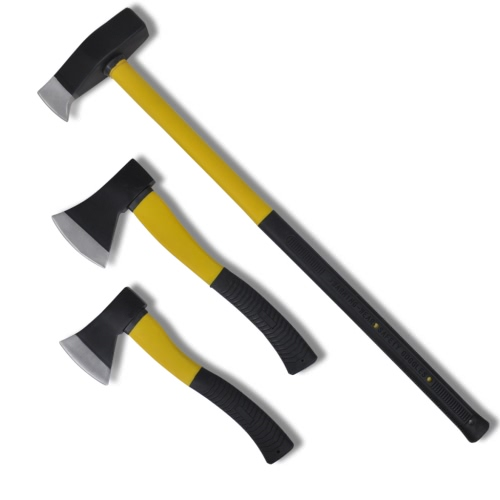 Axes with Protective Cover (set of 3)