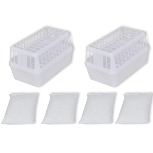 Пластиковые контейнеры Desiccant (набор из 2) с 4 кг Хлорид кальция