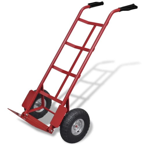 Red and Black Metal Foldable Trolley