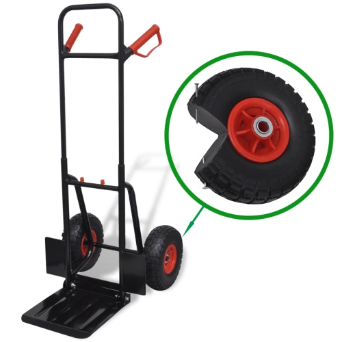 Telescoping Metal Trolley Black and Red