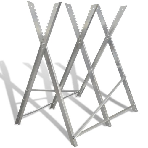 Foldable Galvanized Saw Horse for Woodworking