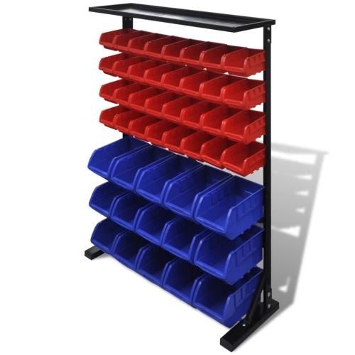 Blue & Red Garaż Narzędzie Organizator