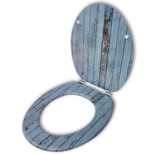 Сиденье для унитаза с МДФ-Лид Старый Wood Design