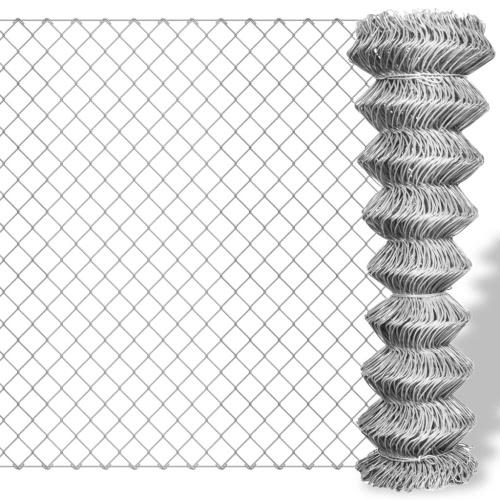 Оцинкованный звено цепи забор 15 х 1,25 м
