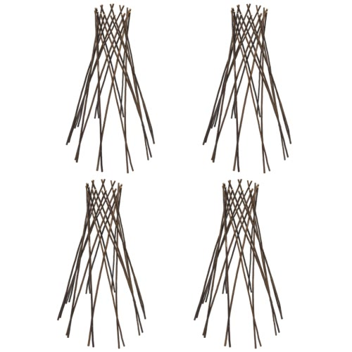 Set of 4 Willow Funnel Trellis 90 cm