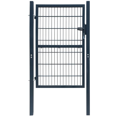2D Barrière de clôture (Simple) Anthracite Gris 106 x 170 cm