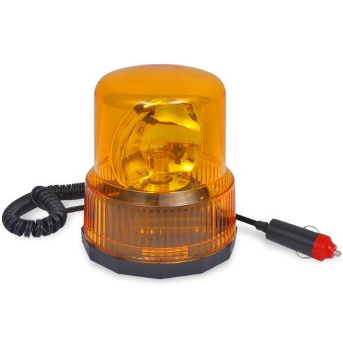 Luz giratoria de advertencia con base magnética 12V