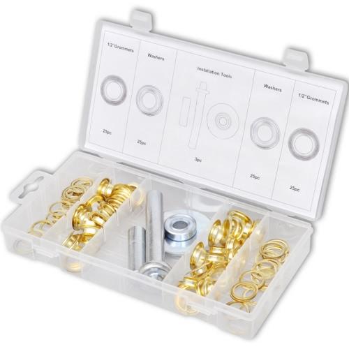 Kit de reparación para lonas con ojales y perforadores (103 unidades)