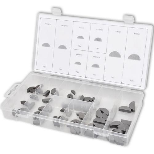 80 шт Метрика шпонку Ассортимент Key Lock шкивы и шестерни