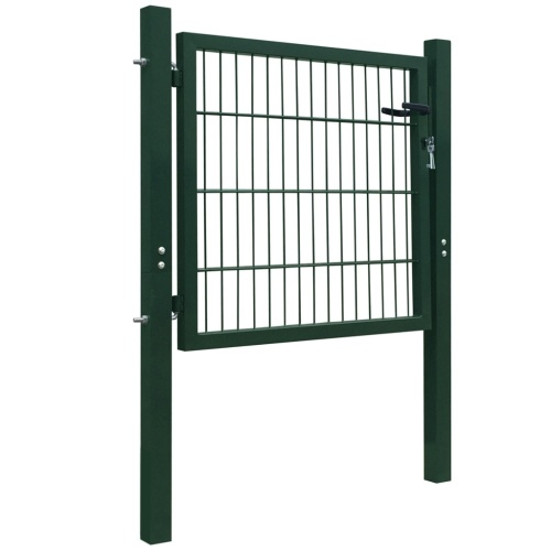 Fence cancello in acciaio verde 106x150 cm