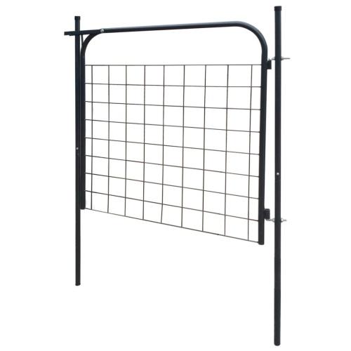 Garden Fence Gate 100x100 cm Antracite