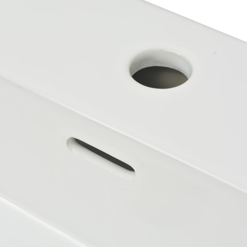 Бассейн с отверстием для раковины Керамический белый 100x42.5x14.5 см