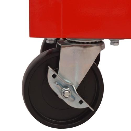 Carrello per attrezzi da officina  con 14 cassetti taglia XXL acciaio rosso
