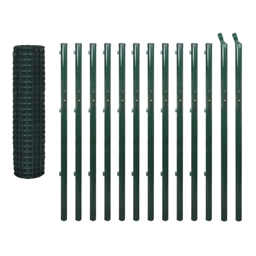 Euro Fence Set 25x1.7 m Acciaio Verde
