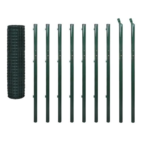 Euro Fence Set 10x1,7 m Acciaio Verde