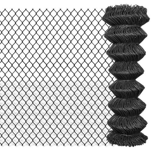 Link Link Fence 25x1,25 m grigio acciaio