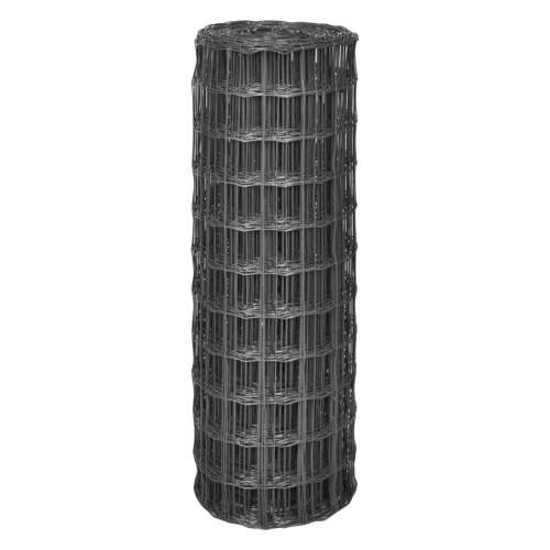Euro Fence 25x1 m con 77x64 mm Mesh Steel Grey