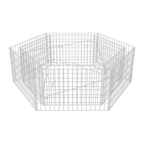 Шестиугольный габионный плантатор 160x139x50 см