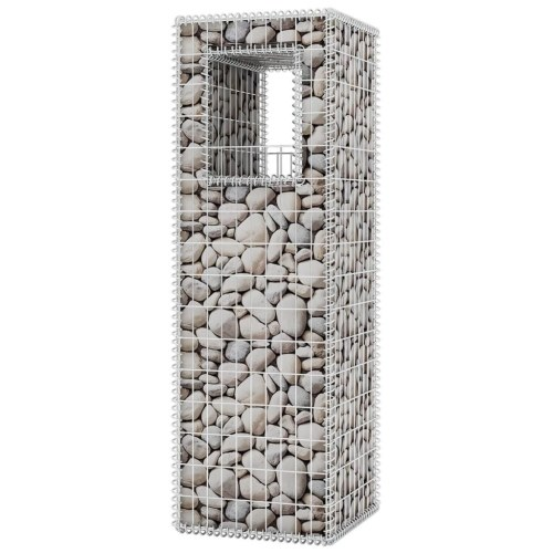 Gabion Basket Post / Planter Acciaio 50x50x160 cm