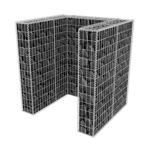 Габионная корзина Single Wheelie Bin Surround Steel 110x100x120 см