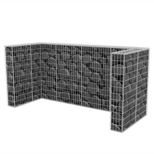 Габионная корзина Тройная двустворчатая круглая сталь 250x100x120 см