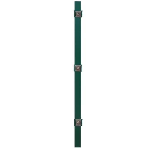Pannello per recinzione con montanti in ferro verde 6x0,8 m