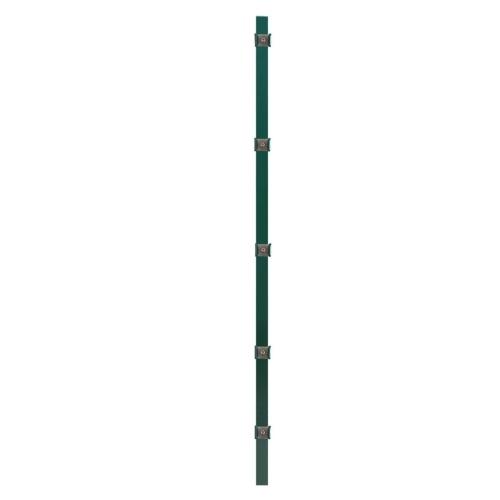 Pannello per recinzione con montanti in ferro verde 6x1,6 m