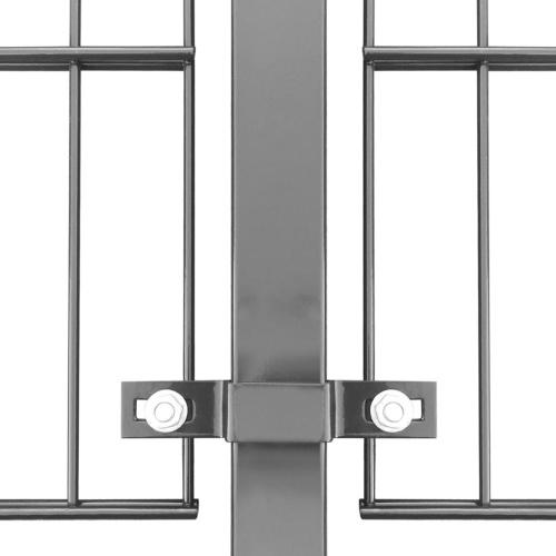 Pannello di recinzione con pali 6x0.8 m Antracite