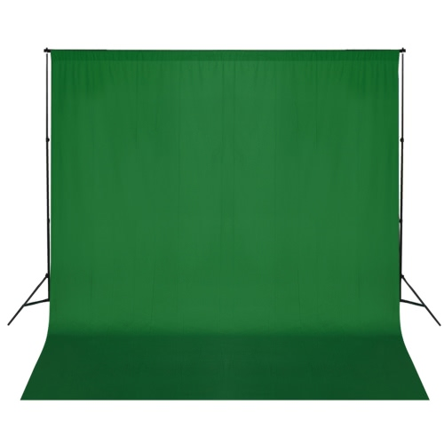 Green Backdrop 600 x 300 cm with Support System UK