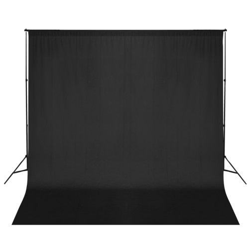 Black Photo Backdrop 600 x 300 cm with Support System UK