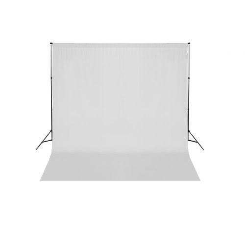 White Backdrop 600 x 300 cm with Support System UK