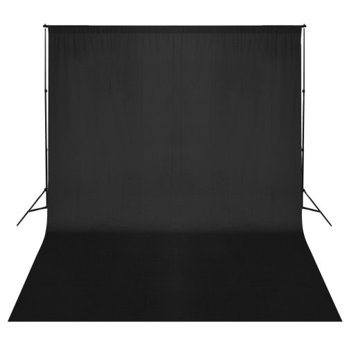 Black Backdrop 300 x 300 cm with Support System UK