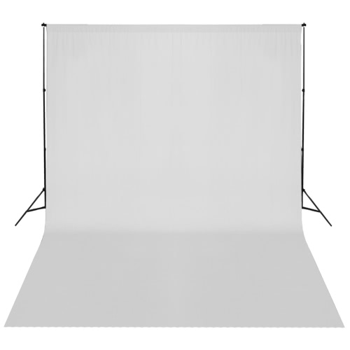 White Backdrop 300 x 300 cm with Support System UK