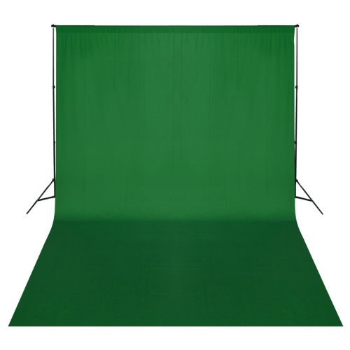 Green Backdrop 500 x 300 cm with Support System UK