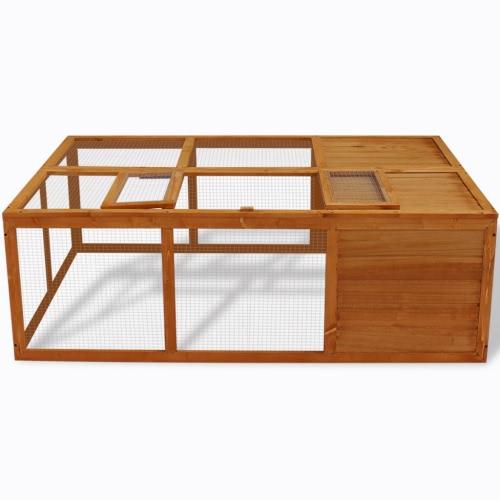 Al aire libre plegable de la jaula del animal de madera
