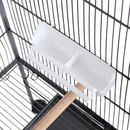Bird Cage с крышей Стальная черная 66x66x155 см