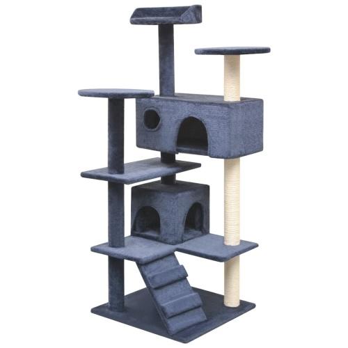 Дерево кошек с царапинами Сообщений 2 Дома 125 см Синий