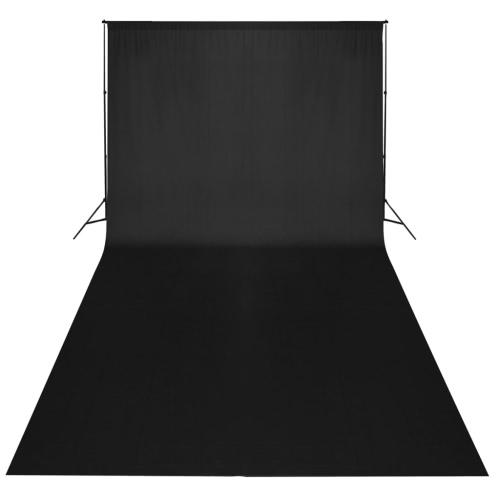 Telón de fondo negro de 300 x 300 cm