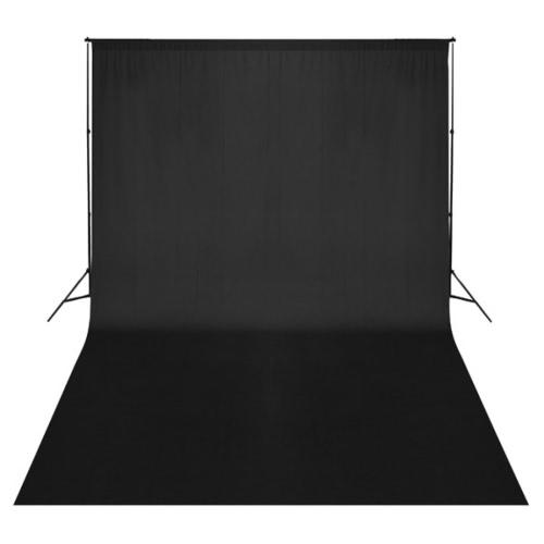 Telón de fondo negro de 500 x 300 cm