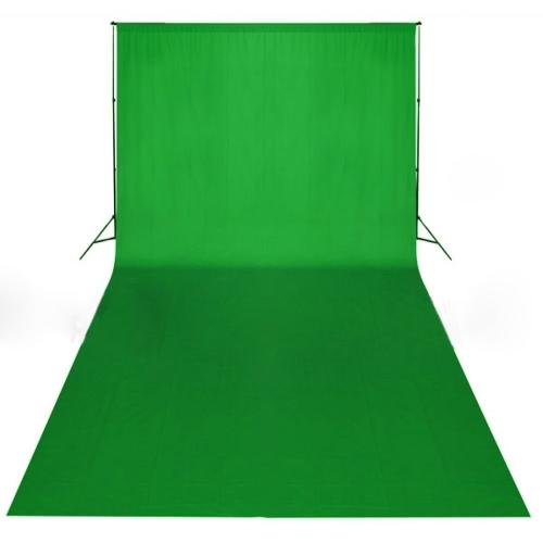 Grüne Kulisse 600 x 300 cm. Chroma-Key