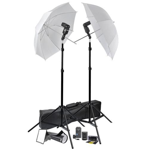 Portable Speedlight Set Tripods Umbrellas Trigger Receiver Lights UK