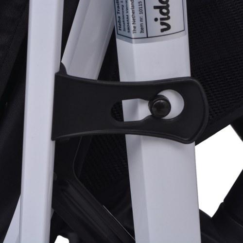 3-в-1 алюминиевая прогулочная коляска красная и черная