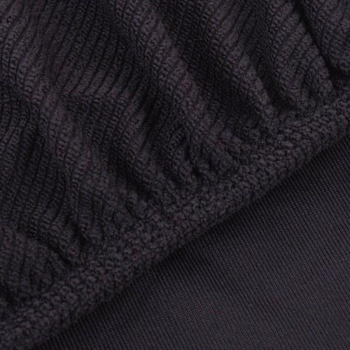 Sofa Slipcover Brown Polyester stricken Seite