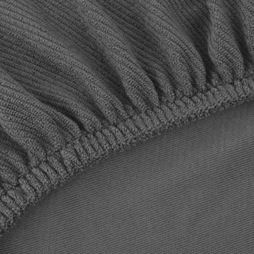 Sofabezug Stoff grau-Stretch-Polyester gestrickt